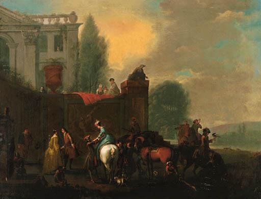 Circle of Carel van Falens (16