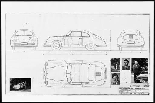 Porsche - An original plan des