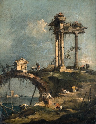 Francesco Guardi: Francesco Guardi (1712-1793) , A Capriccio Of A Ruined