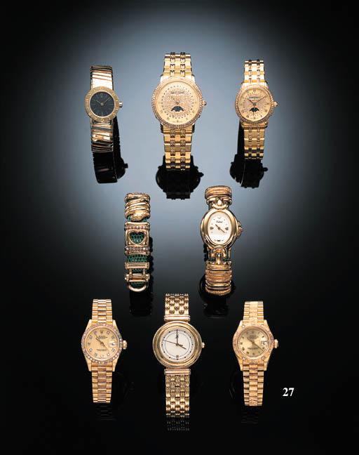 AN 18K GOLD AND DIAMOND SELF-W