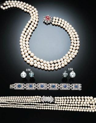 TWO PAIRS OF DIAMOND, TAHITIAN