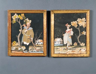 A PAIR OF VICTORIAN POLYCHROME