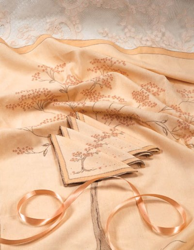 TWO LACE TABLECLOTHS