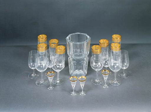 A MISCELLANEOUS GROUP OF COLORLESS GLASS BARCCARAT STEMWARE