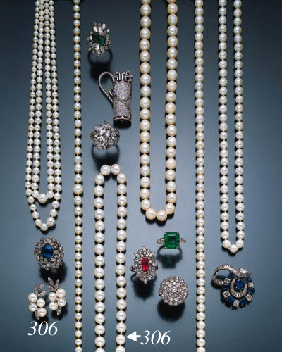 GROUP OF CULTURED PEARL JEWELR