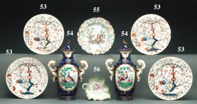 FOURTEEN DERBY PLATES