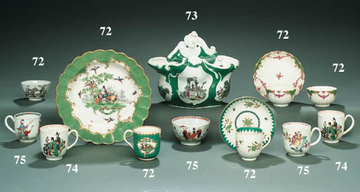 A GROUP OF FIVE ENGLISH CUPS