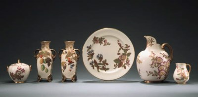 A PAIR OF ROYAL WORCESTER CREA
