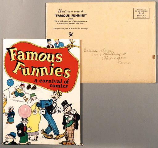 FAMOUS FUNNIES A CARNIVAL OF COMICS WITH ORIGINAL ENVELOPE