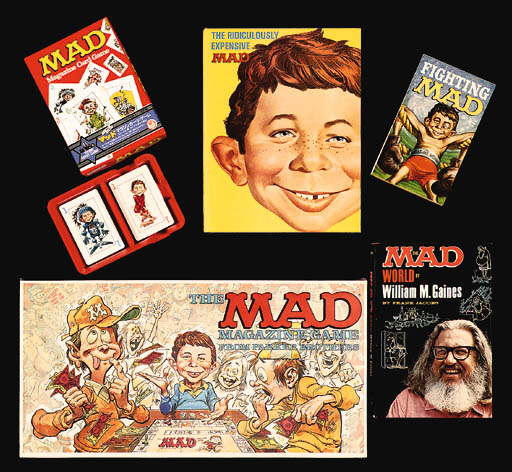 MAD PAPERBACKS AND LICENSED ITEMS