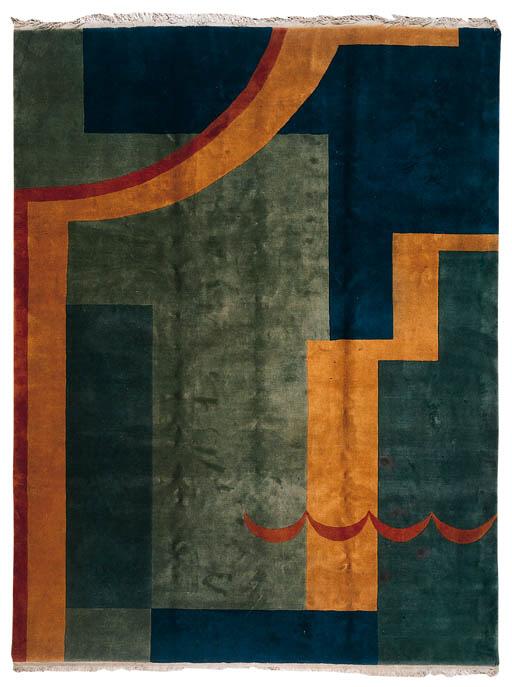 A CHINESE ART DECO CARPET