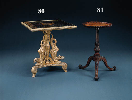 A REGENCY LACQUER AND GILTWOOD
