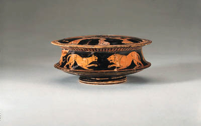 AN ATTIC RED-FIGURE PYXIS (TYP
