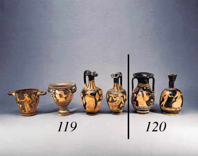FOUR CAMPANIAN RED-FIGURE VASES