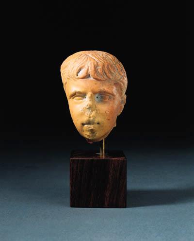 A ROMAN GIALLO ANTICO HEAD OF
