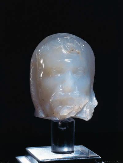 A ROMAN CHALCEDONY HEAD