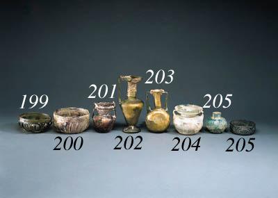 A LATE ROMAN BYZANTINE GLASS J
