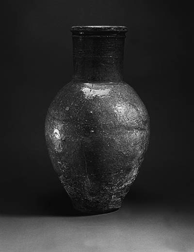 A PARTHIAN GREEN-GLAZED JAR