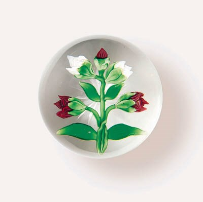 A BACCARAT TULIP-BUD WEIGHT