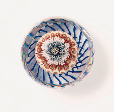 A BACCARAT CONCENTRIC MILLEFIO