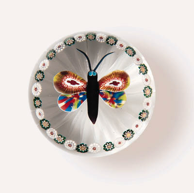 A BACCARAT GARLANDED BUTTERFLY