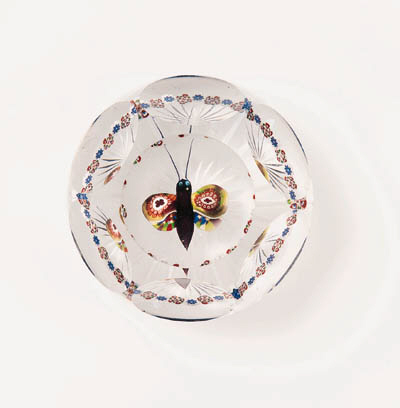 A BACCARAT FACETED BUTTERFLY W