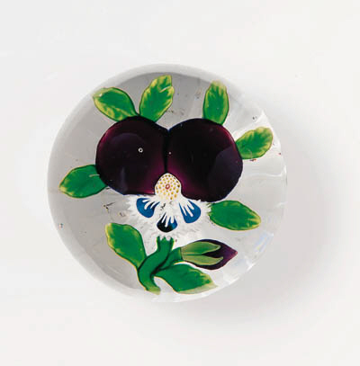 A BACCARAT EARLY PANSY WEIGHT