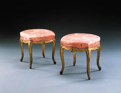 A PAIR OF LOUIS XV GILTWOOD TA