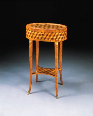 A LOUIS XV/XVI TULIPWOOD, KING