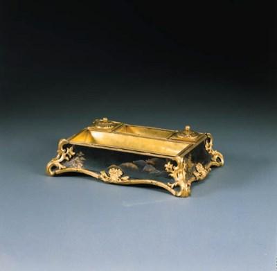 A LOUIS XV ORMOLU-MOUNTED JAPA