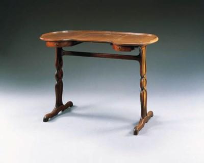 A LOUIS XVI MAHOGANY TABLE EN