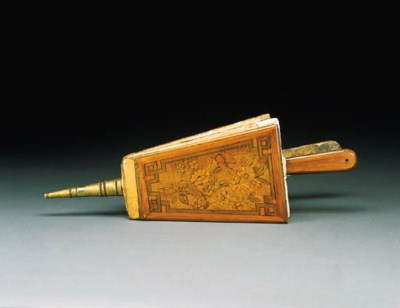 A LOUIS XVI BRASS-MOUNTED SYCA