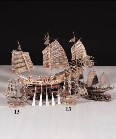 TWO DUTCH SILVER SHIPS