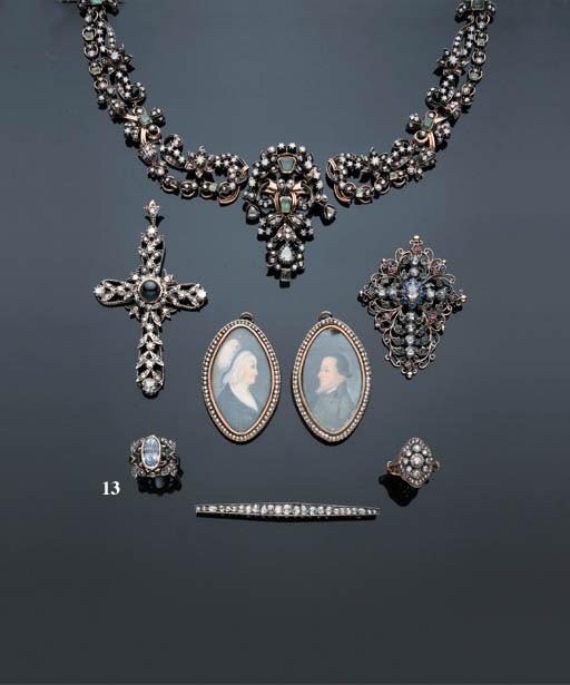 A SAPPHIRE AND DIAMOND DRAGONF