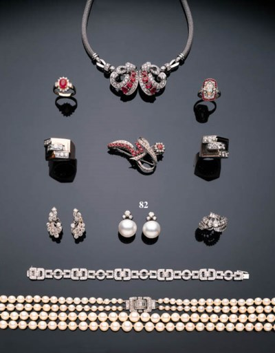 A PAIR OF MABÉ PEARL AND DIAMO