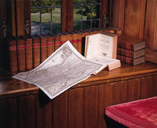 TIRION, Isaak (?1705-1765). De tegenwoordige staat der Vereenigde Nederlanden or Hedendaagsche Historie of Tegenwoordige staat van alle volkoren. [parts 1 to 12] Amsterdam: Isaak Tirion, 1739-1772. --  [parts 13-17] Amsterdam, Leiden, Dordrecht, and Harlingen: P. Schouten, J. de Groot, G. Warnars, S. and J. Luchtmans, A. and P. Blusse, V. van der Plaats, 1781-1789. -- [parts 18-21 and 23 (part 23 bound as vol. 22)] Amsterdam: J. de Groot, G. Warnars, S. and J. Luchtmans, A. and P. Blusse, V. van der Plaats, 1783-1801. -- Hedendaagsche Historie of Tegenwoordige Staat van Alle Volkeren behelzende eene beschryving van de tegenwoordigen staat der Oostenryksche, Fransche en Pruissische Nederlanden [part 10 (with title on lettering-piece Staat der Oostenrykse Nederlande)]. Amsterdam: Isaak Tirion, 1738.