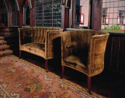 a mahogany suite of seat furni