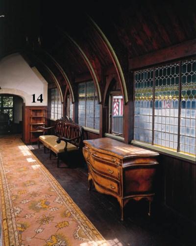 a mahogany four-tier etagere