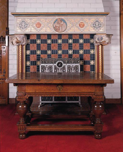 a dutch oak table de changeur