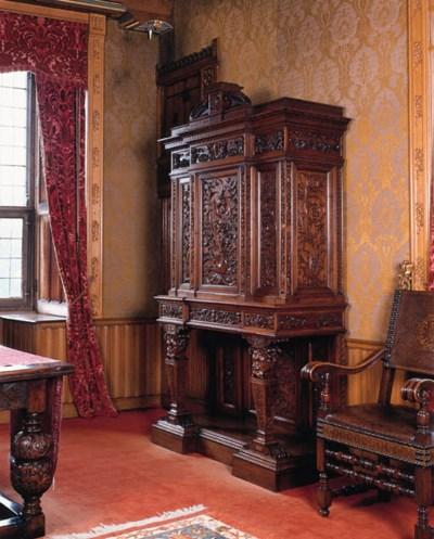 a french walnut cabinet
