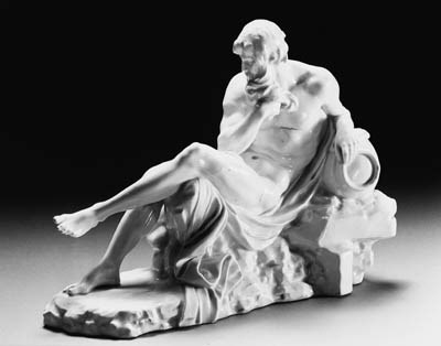 a höchst white porcelain figur
