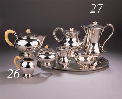 A Continental Art Deco silver