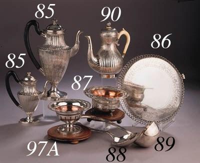 A Dutch silver tea pot