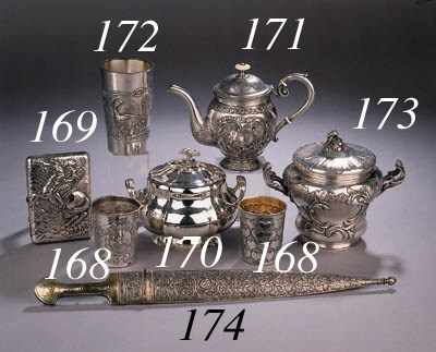 A Russian silver- and parcel-g