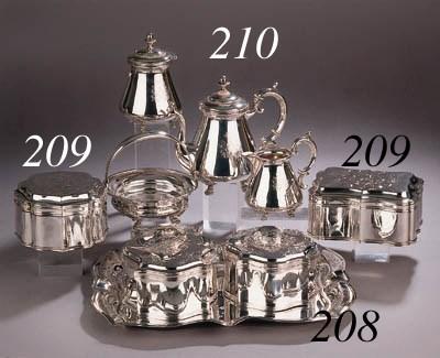 A Dutch silver four-piece tea
