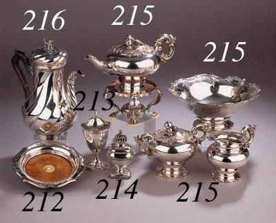 A four-piece Dutch silver tea