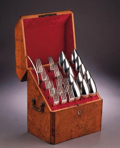 A set of twelve Dutch table fo