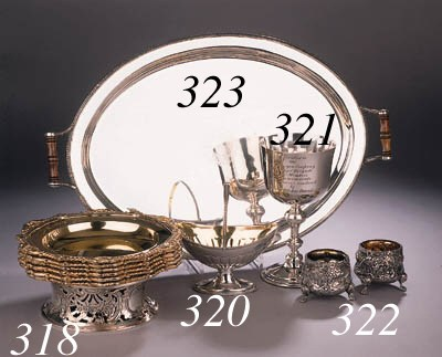An English silver tray