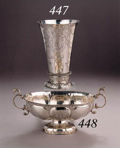 A fine silver beaker