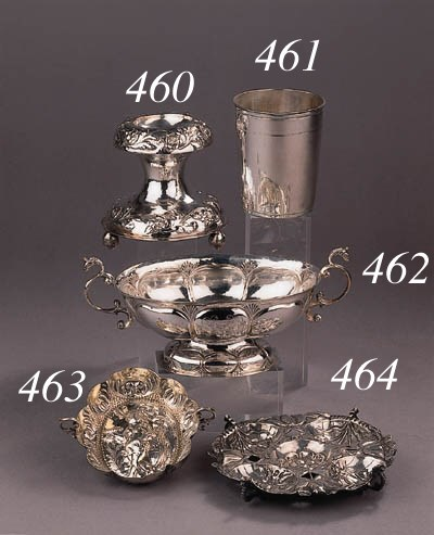 A fine German silver and parce